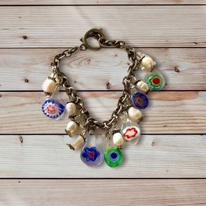 TRINKETS AND PEARLS TOGGLE BRACELET